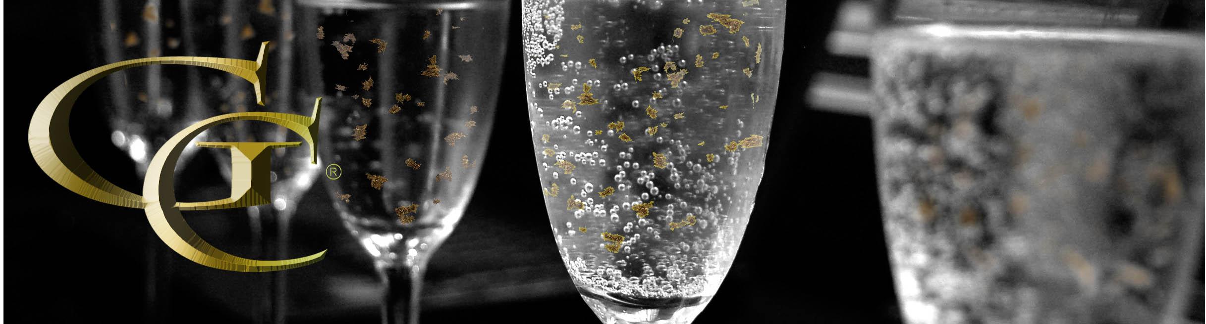 šumivé víno so zlatom - darčvekové víno